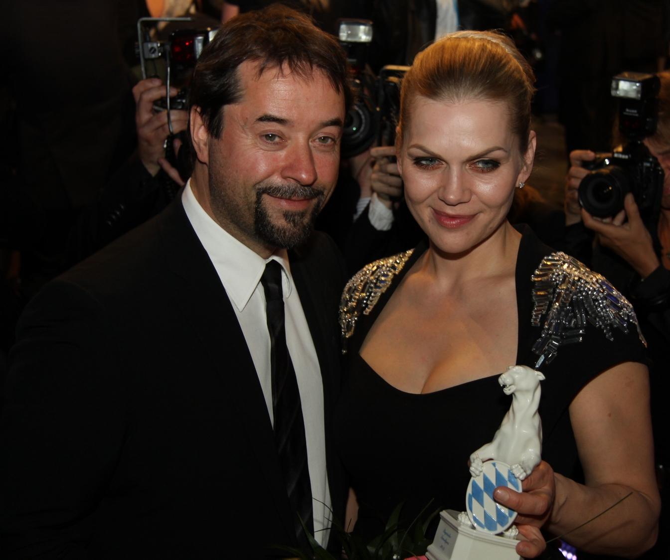 Preisträgerin 2012 Anna Loos mit Ehemann Jan Josef Liefers